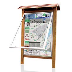 Panneau plan de ville structure bois