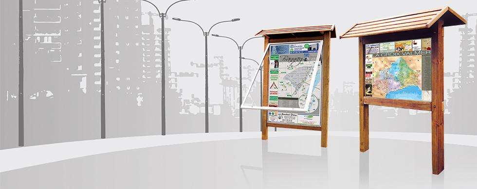 M dia plus communication panneau plan de ville structure for Panneau pour plan de travail